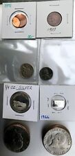 Coin and sliver collection starter set with several Ike dollars