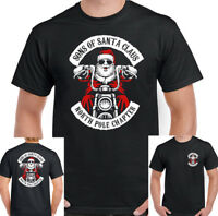 Sons Of Santa Claus Mens Funny Christmas Biker T-Shirt Anarchy Motorcycle Bike