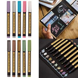 Metallic Marker Pens Pens for Craft Art Marker Pen for Painting Stones,Glass