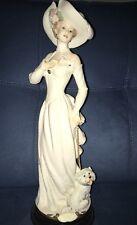 Florence Giuseppe Armani woman with dog Figurine.