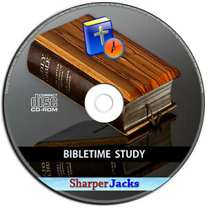 NEW & Fast Ship! Bible Time Study Church Worship Educational Software - PC Disc