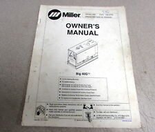 Miller Big 40G Owner's Manual OM-477G 1995