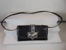 BRIGHTON (NEW) BLACK SUPER SOFT LEATHER FULL SIZE SNAP FRONT WALLET $195.00!!