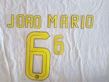 kit PERSONALIZZAZIONE nome NUMERO maglia INTER JOAO MARIO 6 GIALLO HOME 16/2017