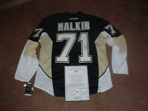 EVGENI MALKIN #71 PENGUINS EMBROIDERED SIGNATURE AUTHENTIC HOCKEY JERSEY COA NWT