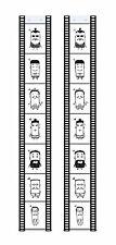 Set Fototaschen Fotohalter Fotovorhang Filmstreifen Hochformat 13x18 für 7 Fotos