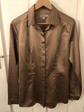Burberry Silk Bronze Shirt Size 10