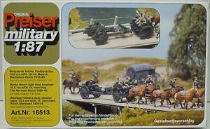 Comprising Silberling Field Cannon 10,5cm Lefh 18, Ho, 1/87, Preiser, Plastic,