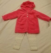 NEW Carters baby Girl 2 Piece Set Fleece Hoodie  Leggings Sparkle  9 M