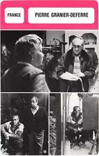 FICHE CINEMA :  PIERRE GRANIER-DEFERRE -  France (Biographie/Filmographie)