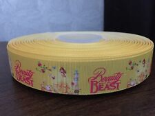 1m Belle Beauty And The Beast Princess Character Printed Grosgrain Ribbon, 22mm