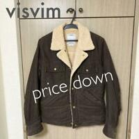 VISVIM Authentic Corduroy Boa jacket Size S Used from Japan
