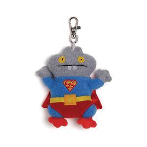 "NWT UglyDoll DC Comics Superman Babo 4.5"" Clip On Toy"