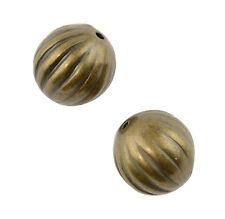 25pcs Gold Coloured Plastic Round Beads 12mm (37887-35)