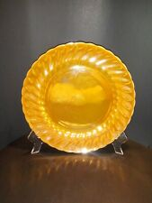 Vintage Fire King Anchor Hocking Glass Peach Lusterware Swirl Dinner Plate