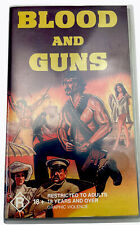 Blood And Guns VHS Video Cassette Tape PAL Clear Small Box R18+ 1997