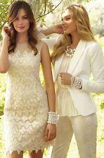 $398 Lilly Pulitzer 'Fulton' Foiled Lace Cotton Metallic Sheath Dress NWT  10