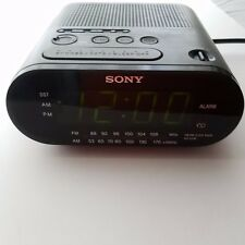Sony Dream Machine Black Icf-C218 Am Fm Radio Digital Alarm Clock Radio