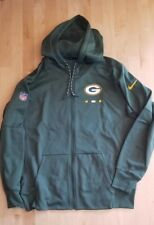 Green Bay Packers Nike Full-Zip Hoodie Jacket Sideline Logo 2017 NFL Pocket New