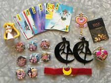 Sailor Moon Chibi Moon Bundle Lot of 29 Pieces New Keychain Buttons Jewelry