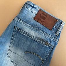 GStar Jeans 3301 Straight Leg Blue Vintage Men's (LabelW34L34) W 32 L 33