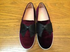 feb3375f8561 KATE SPADE NEW YORK DELICE TOO VELVET FLAT SHOES WITH LEATHER BOW NEW SIZE  8.5