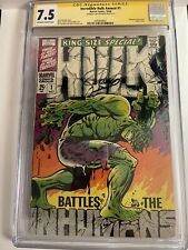 Incredible Hulk King Size Special #1 CGC 7.5 Steranko SIGNED!