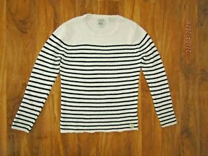 Scoth And Soda Striped white Fisherman's cotton Jumper Size L
