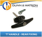 Black Rear Fixing 'T' Locks / Handles (Trailer Caravan Canopy Canopy Toolbox) x1