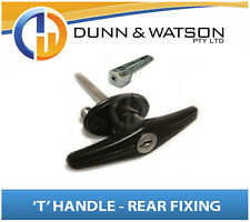 Black Rear Fixing 'T' Locks / Handles (Trailer Caravan Canopy Canopy Toolbox) x1
