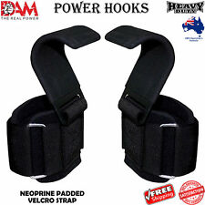 HEAVY DUTY WEIGHTLIFTING HOOKS WRIST SUPPORT STRAPS GYM POWER GRIPPING CHIN HOOK