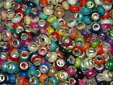NEW Special VALUE 50/pcs 11mm MIXED Acrylic charm, spacer European Beads LOT