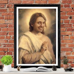 Rik Mayall Jesus Poster Art Picture Print
