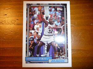 92 93 NBA TOPPS SHAQUILLE O'NEAL TOPPS ROOKIE CARD! MINT!