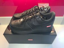 Supreme Nike Air Force 1 Black UK 7 US 8 - UPS NEXT DAY DELIVERY