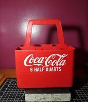 Vintage Coca Cola Plastic Coke Bottle Carrier Holder Caddy 6 Pack one pint