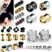 Stainless Steel Flared Ear Plug Hollow Expander Stretcher Tunnels Pierced Gauges
