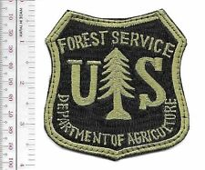 United States Forest Service Hot Shot Wildland Fire Crew USFS OD on Black HOOKS