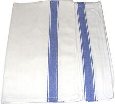 2 x GRAND BLEU & blanc qualité 100% coton Cuisine Verre CHIFFONS / serviette à