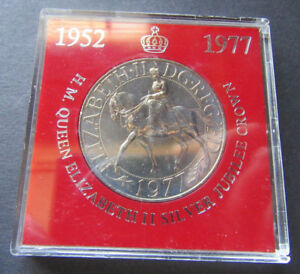H.M. Queen Elizabeth 11 Silver Jubilee Crown Uncirculated and in a Plastic Case
