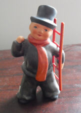 "Vintage Goebel Hummel Figurine Boy in Top Hat with Ladder 3 1/2"" Tall"