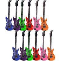 2 Stück Aufblasbare Luftgitarren Bunt 55 cm Luftgitarre Luft Gitarre Air Guitar