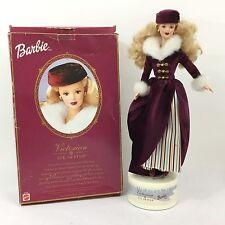 Vintage Mattel Muñeca Barbie VICTORIAN ICE SKATER Estatuilla En Caja Completa