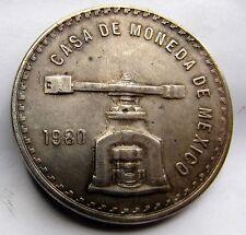 1980 CASA DE MONEDA DE MEXICO UNA ONZA TROY DE PLATA PURA 1 OZ .925 SILVER CROWN