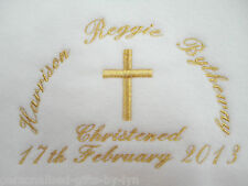 PERSONALISED CHRISTENING or NAMING DAY Baby Blanket