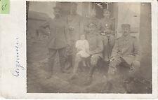Soldats allemands avec enfant guerre 14-18 photo sur CPA lot 65