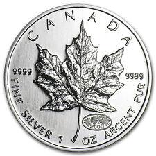 2000 Canada 1 oz Silver Maple Leaf BU - SKU #11065