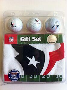 Houston Texans Golf Balls & Towel Gift Set-Includes 3 Logo Balls and 1 Towel