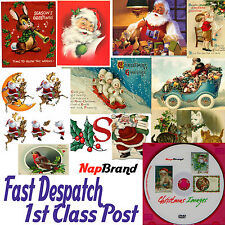 Over 5,600  CHRISTMAS IMAGES, Vintage, Tags etc DVD Cardmaking Decouage +