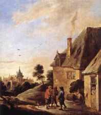 David Teniers the Younger Villaggio Scena 2 stampa in A4